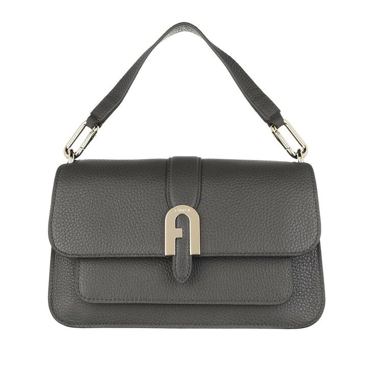 Handtasche, Furla, Sofia Grainy Small Top Handle Bag Asfalto Grey