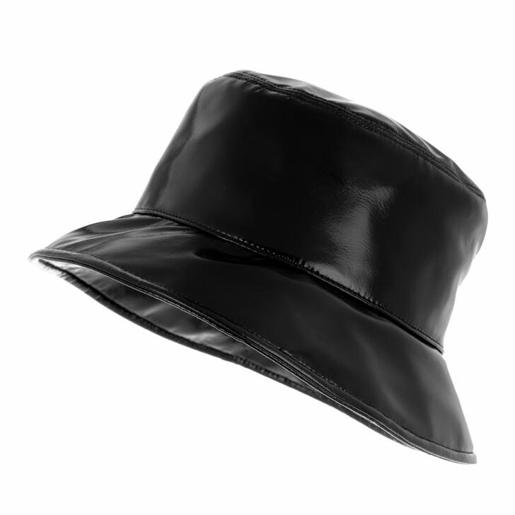 hats, Miu Miu, Ciré Bucket Hat Black