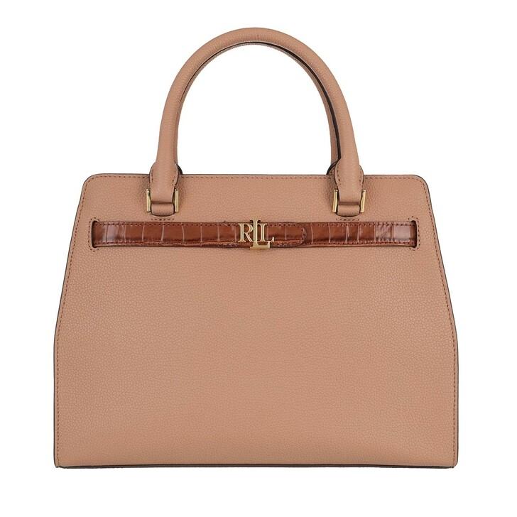 Handtasche, Lauren Ralph Lauren, Fenwick 32 Satchel Medium Nude/Deep Saddle Tan