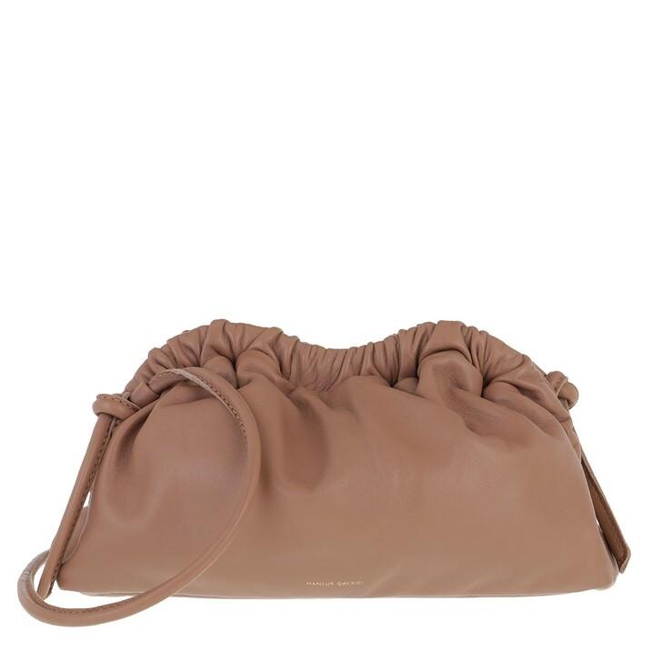 Handtasche, Mansur Gavriel, Mini Cloud Clutch Leather Biscotto