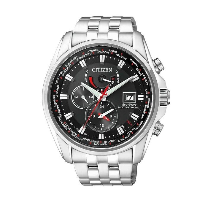 watches, Citizen, Radio Controlled Wristwatch Silver Black