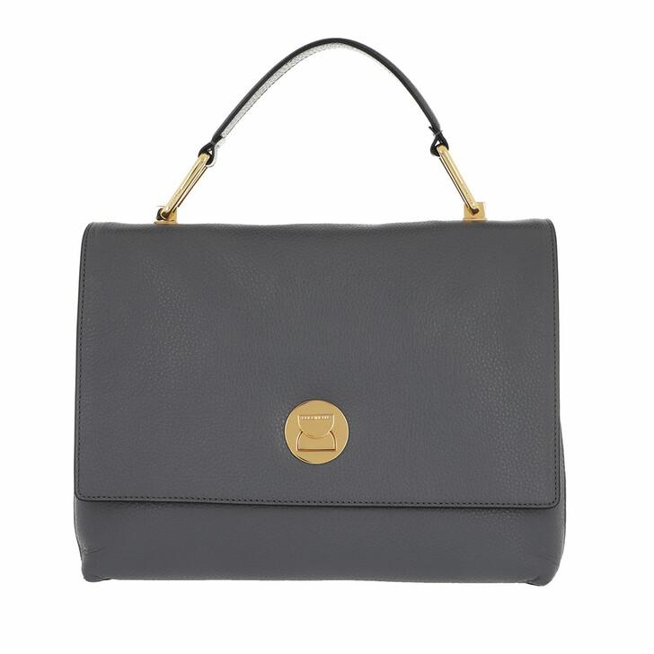 bags, Coccinelle, Liya Grainy Leather Ash Grey/Noir