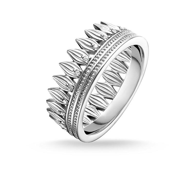 Ring, Thomas Sabo, Ring Crown Leaves Silver