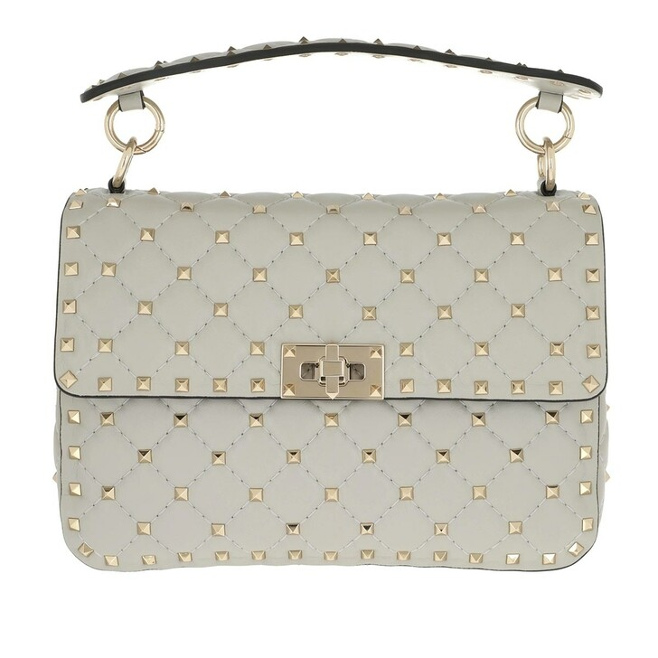Handtasche, Valentino Garavani, Rockstud Spike Medium Crossbody Leather  Opal Grey