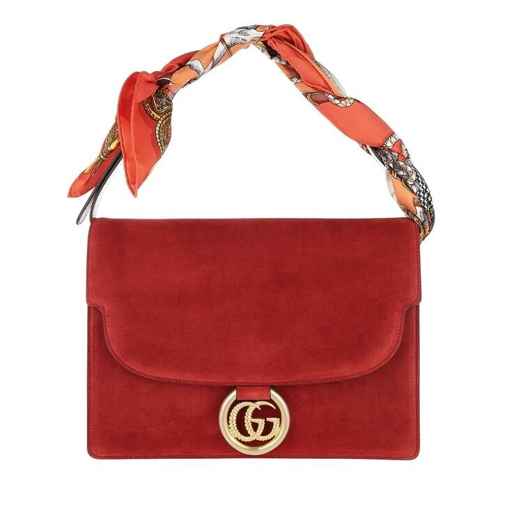 Handtasche, Gucci, Shawl Shoulder Bag Medium Red
