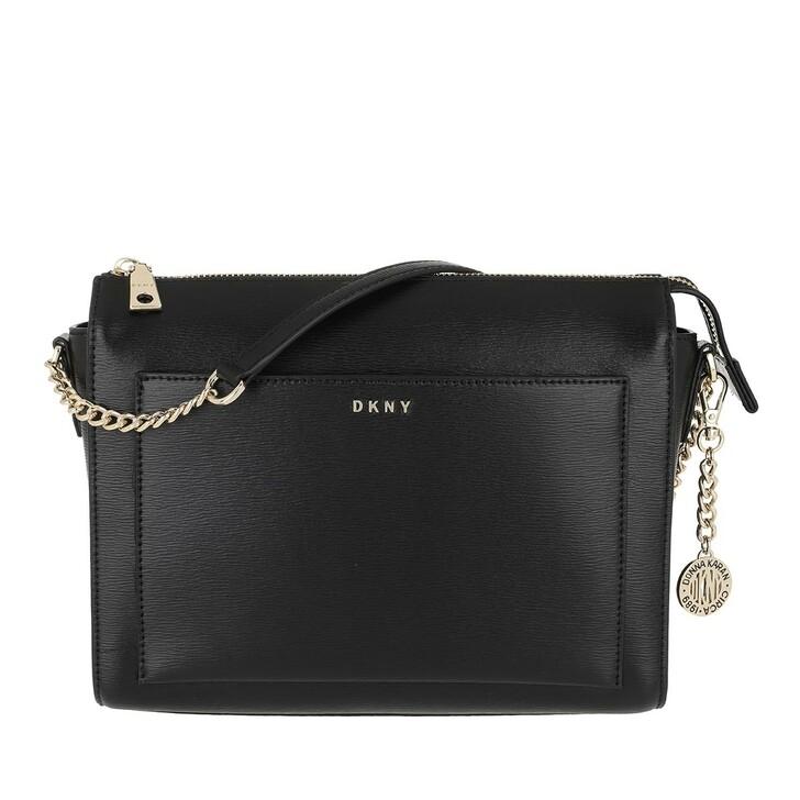 bags, DKNY, Bryant Medium Box Crossbody Bag Black/Gold