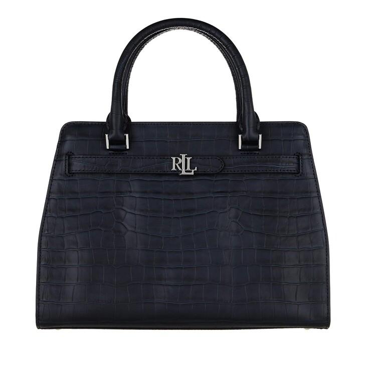 bags, Lauren Ralph Lauren, Fenwick 32 Satchel Medium Lauren Navy