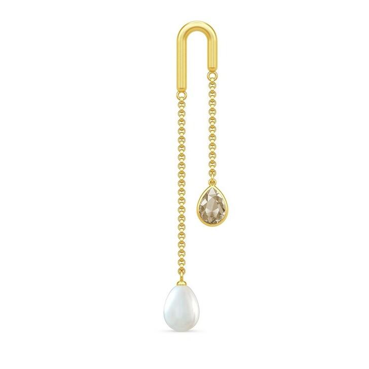 earrings, Julie Sandlau, Link Droplet Earstud Yellow Gold