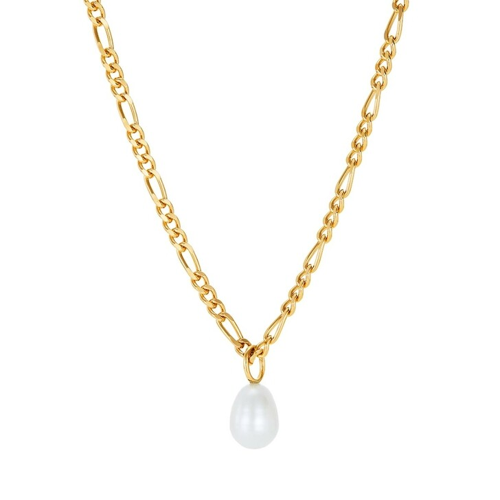 Kette, BELORO, Necklace Pearl Yellow Gold