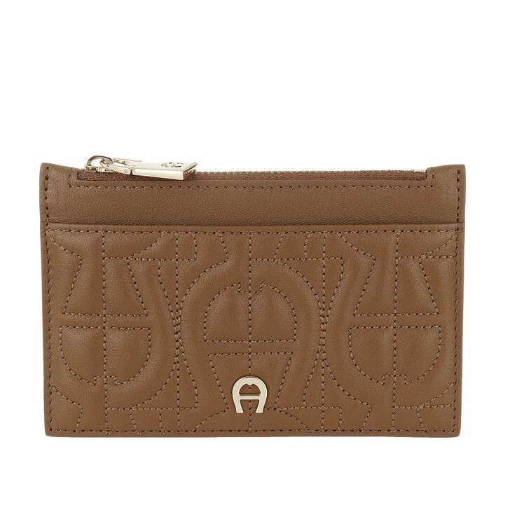 Geldbörse, AIGNER, Genoveva Card Holder Dark Toffee Brown