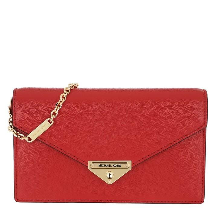 Handtasche, MICHAEL Michael Kors, Grace MD Envelope Clutch Bright Red