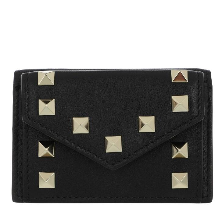 wallets, Valentino Garavani, Rockstud Wallet Leather Black