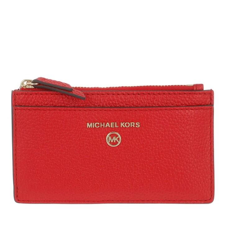Geldbörse, MICHAEL Michael Kors, Jet Set Charm Slim Card Wallet Leather Bright Red