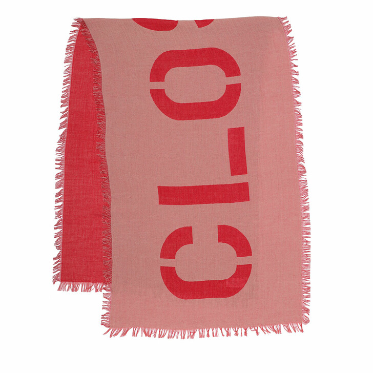 Schal, Closed, Cotton Scarf Amaranth Red