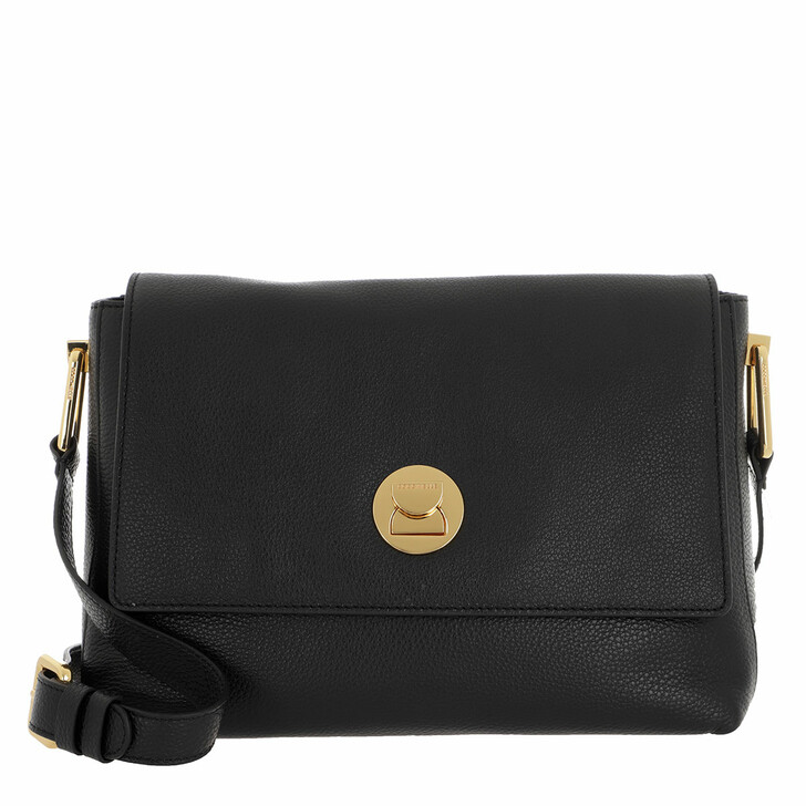 Handtasche, Coccinelle, Handbag Grainy Leather Noir/Noir