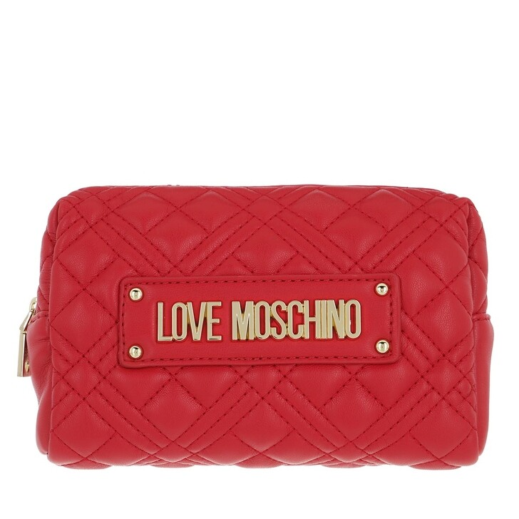 necessaires, Love Moschino, Bustina Quilted Nappa Pu  Rosso