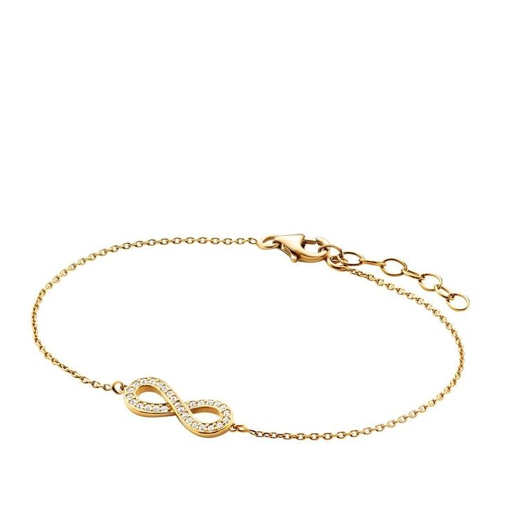 bracelets, BELORO, Bracelet  Infinity Zirconia  Gold-Plated