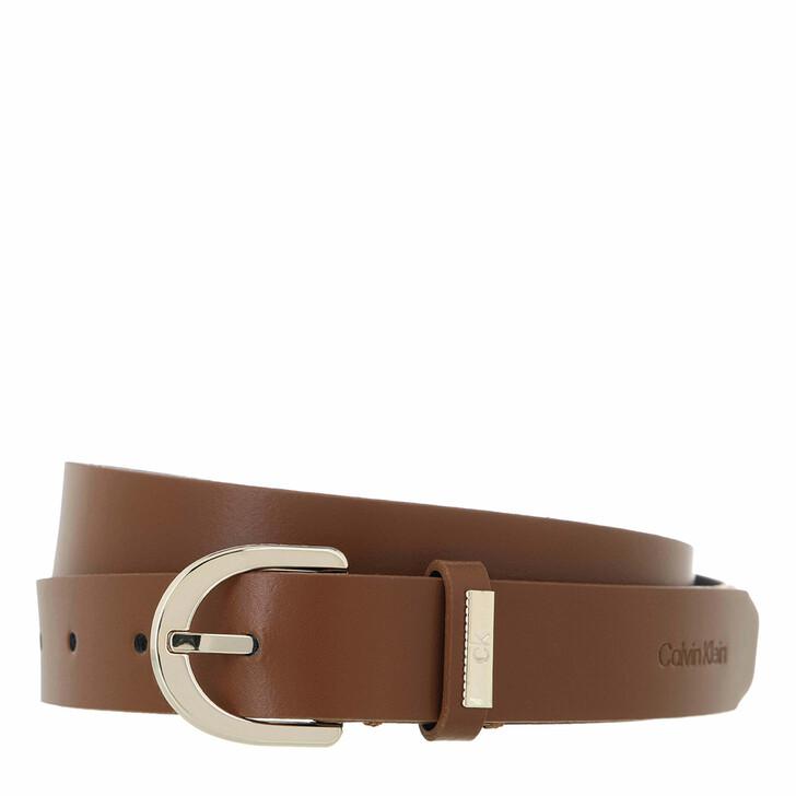 belts, Calvin Klein, CK Must Round Belt 25mm Caramel
