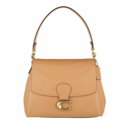 coach -  Shopper - Soft Pebble Leather May Shoulder Bag - in beige - für Damen