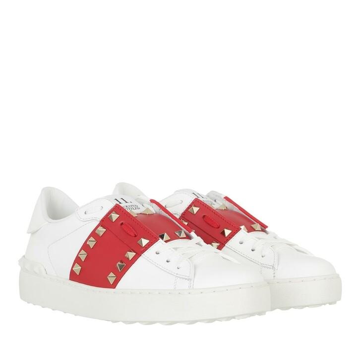 shoes, Valentino Garavani, Rockstud Untitled Sneakers White/Red