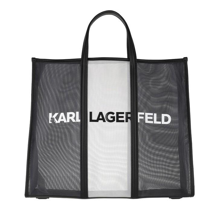 Handtasche, Karl Lagerfeld, Printed Large Tote Black/White