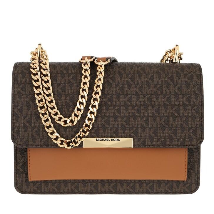 Handtasche, MICHAEL Michael Kors, Jade LG Gusset Shoulder Brown/Acorn