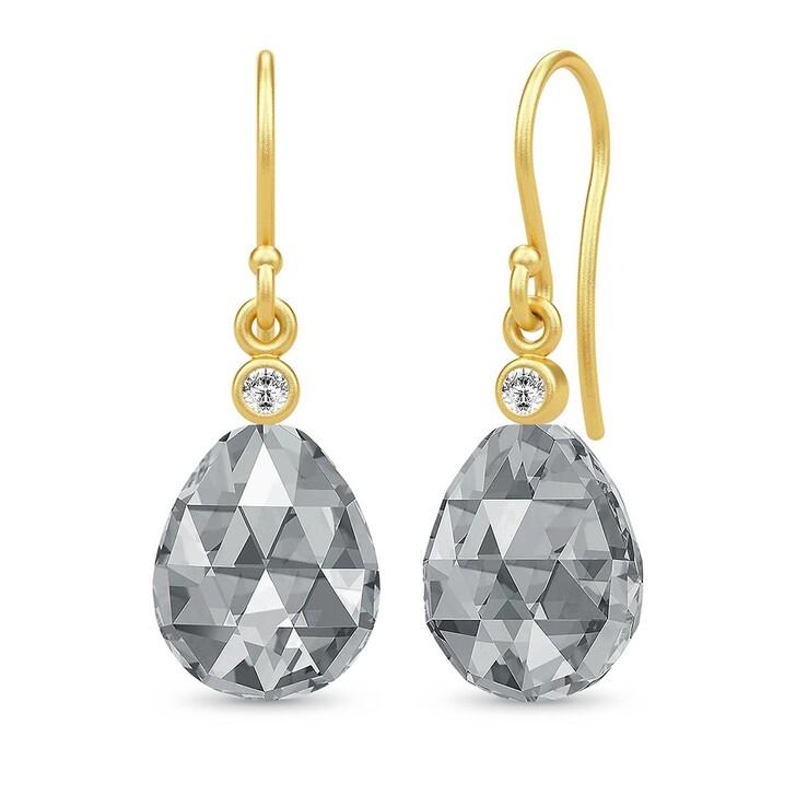 earrings, Julie Sandlau, Eve Earrings Yellow Gold