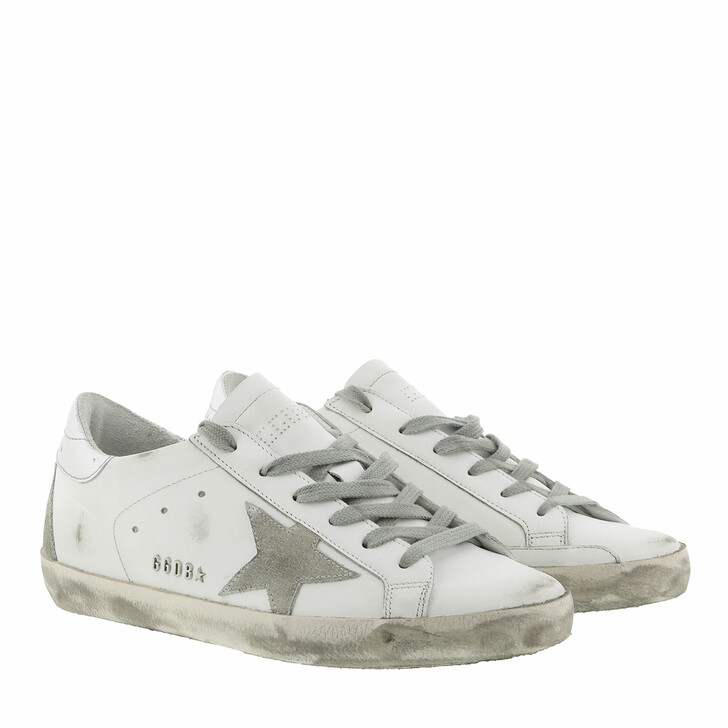 Schuh, Golden Goose, Superstar Classic Sneakers White/Silver