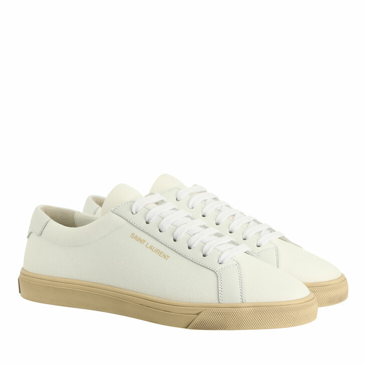 shoes, Saint Laurent, Andy Low Top Sneakers White Multi