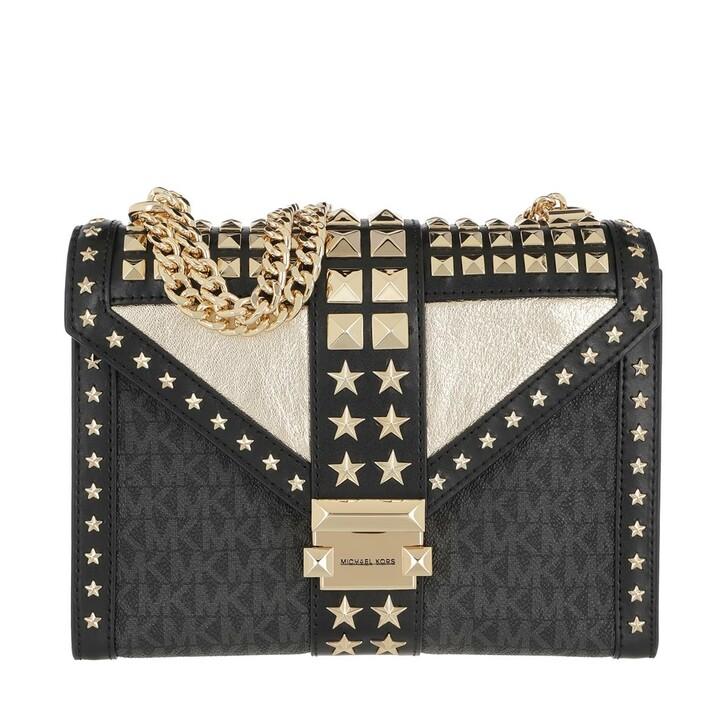 Handtasche, MICHAEL Michael Kors, Whitney Large Shoulder Bag Black/Gold