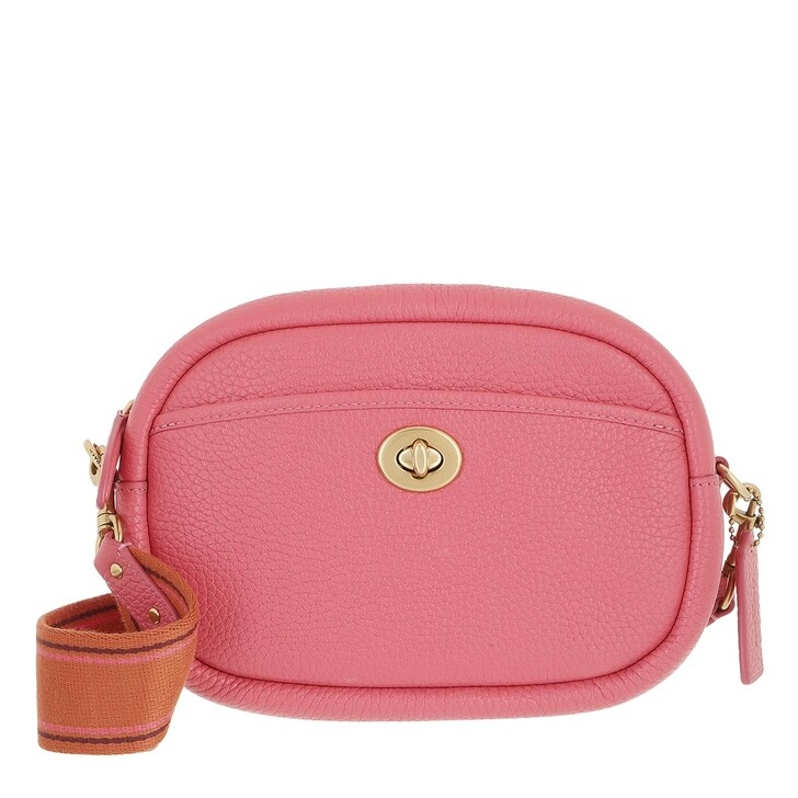 bags, Coach, Soft Pebble Leather Camera Bag With Leather And We Watermelon