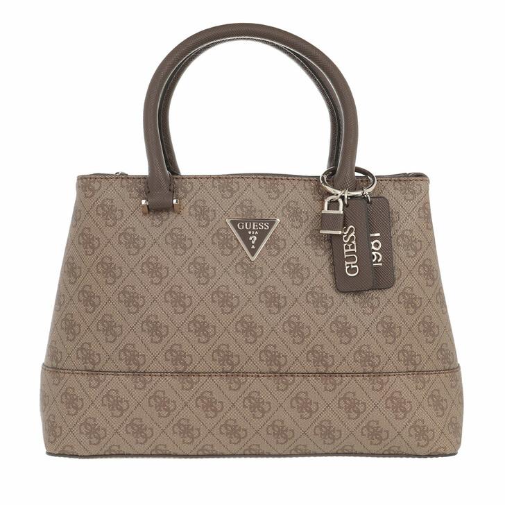 bags, Guess, Cordelia Logo Luxury Satchel Latte/Brown
