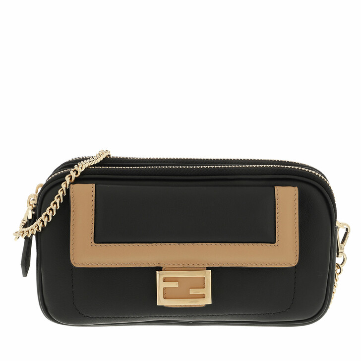 bags, Fendi, Crossbody Bag Leather Black
