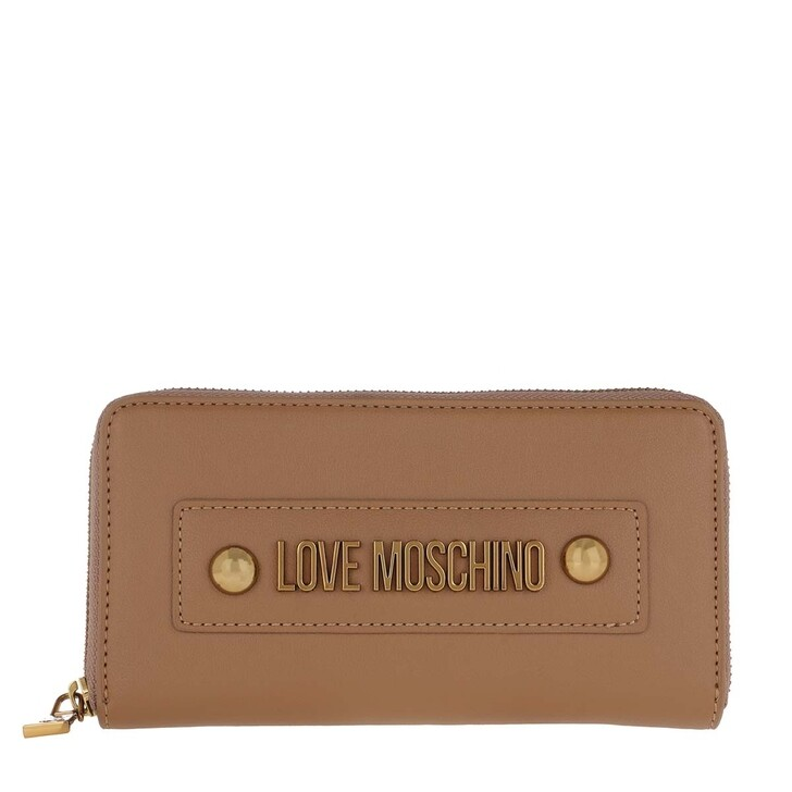 Geldbörse, Love Moschino, Portafogli Wallet Cuoio