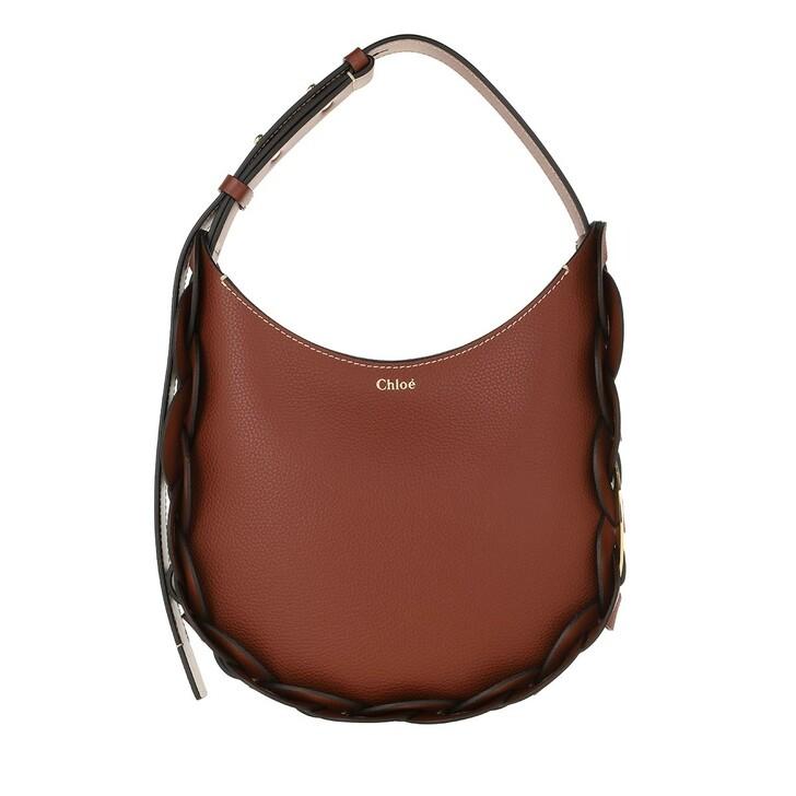 bags, Chloé, Darryl Small Hobo Bag Leather Sepia Brown