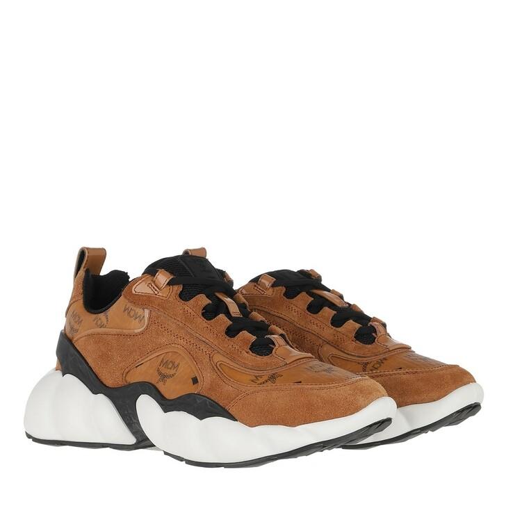 Schuh, MCM, Himmel Visetos Sneaker Cognac