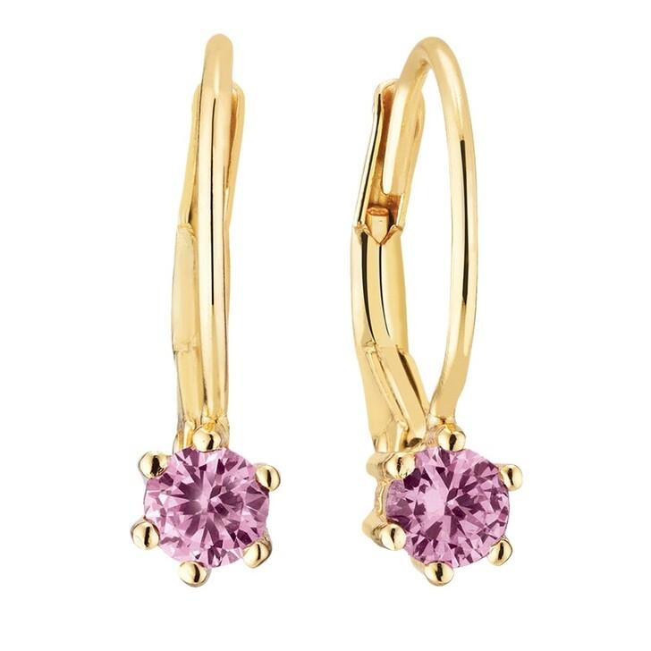 earrings, Sif Jakobs Jewellery, Rimini Earrings 18 Carat Yellow Gold/Pink