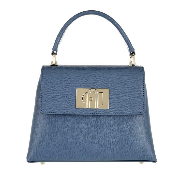 Handtasche, Furla, 1927 Mini Top Handle Blu Denim