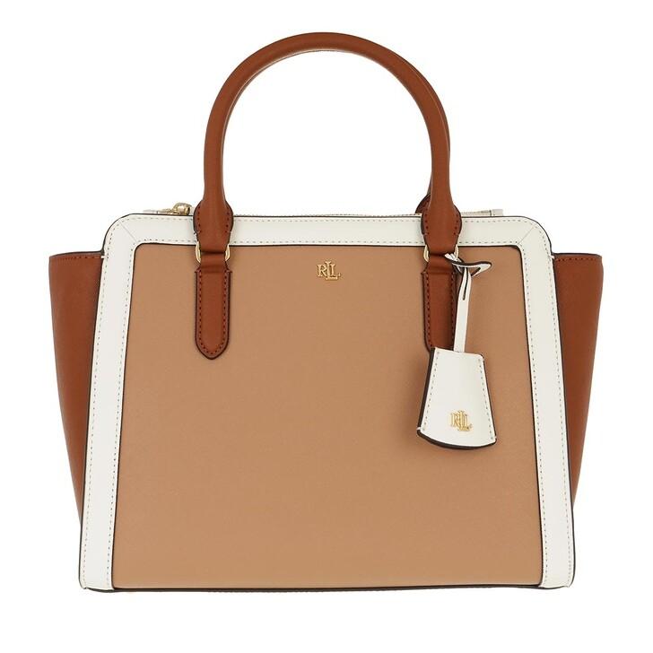 Handtasche, Lauren Ralph Lauren, Brooke 27 Satchel Medium Nude/Lauren Tan/Vanilla