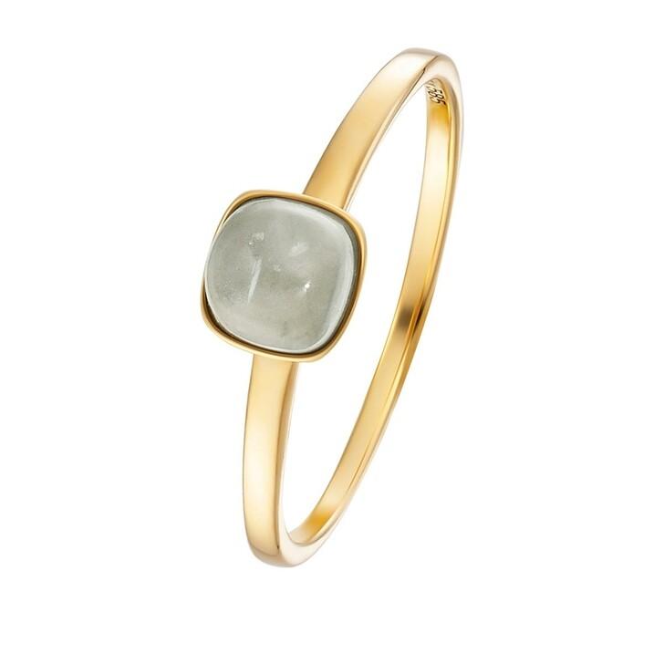 rings, BELORO, Stacking Ring Moonstone Grey 14k Small Gold