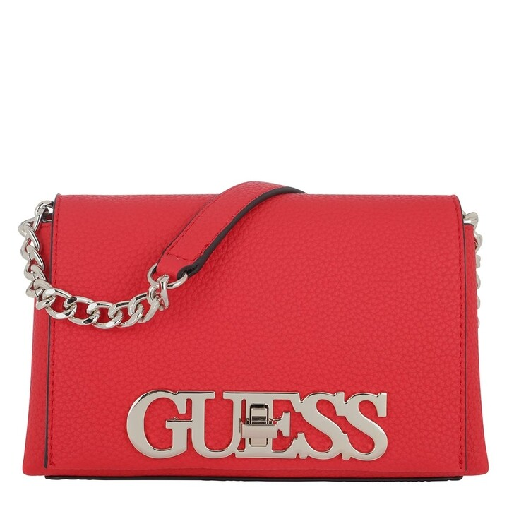 bags, Guess, Uptown Chic Mini Crossbody Bag Scarlet