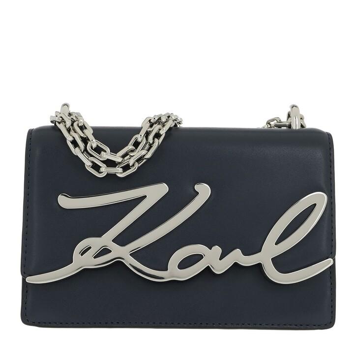 Handtasche, Karl Lagerfeld, Karl Signature Small Shoulderbag Navy