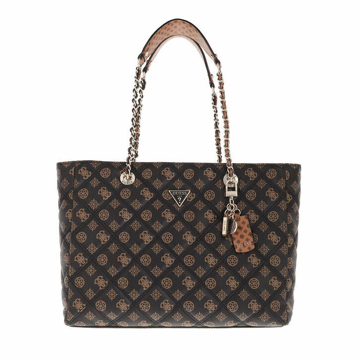 bags, Guess, Cessily Tote Mocha Multi