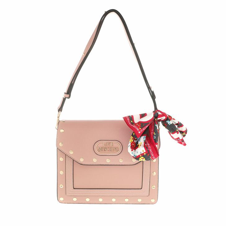 Handtasche, Love Moschino, Crossbody Bag Leather Rosa
