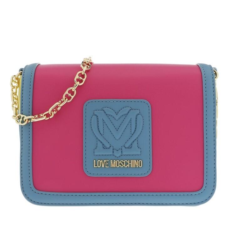 Handtasche, Love Moschino, Borsa Pu  Fuxia/Giallo/Azzurro