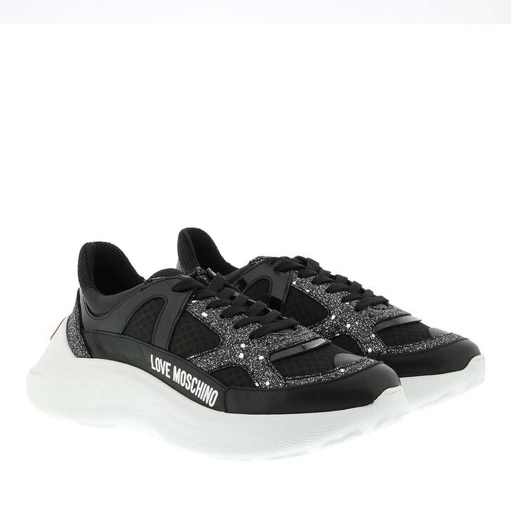Schuh, Love Moschino, Sneaker Running Nero
