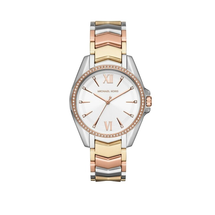 Uhr, Michael Kors, Whitney Three-Hand Tri-Tone Stainless Steel Watch Multicolor
