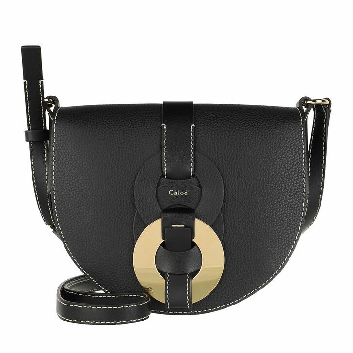 Handtasche, Chloé, Small Darryl Crossbody Bag Calfskin Black