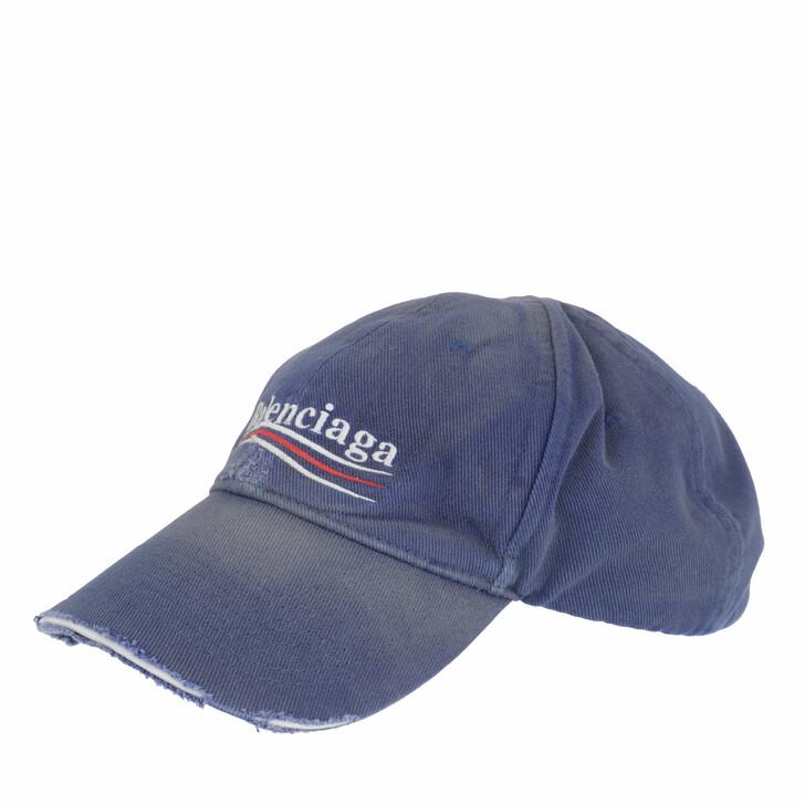 hats, Balenciaga, Political Campaign Destroyed Cap Sapphire/White