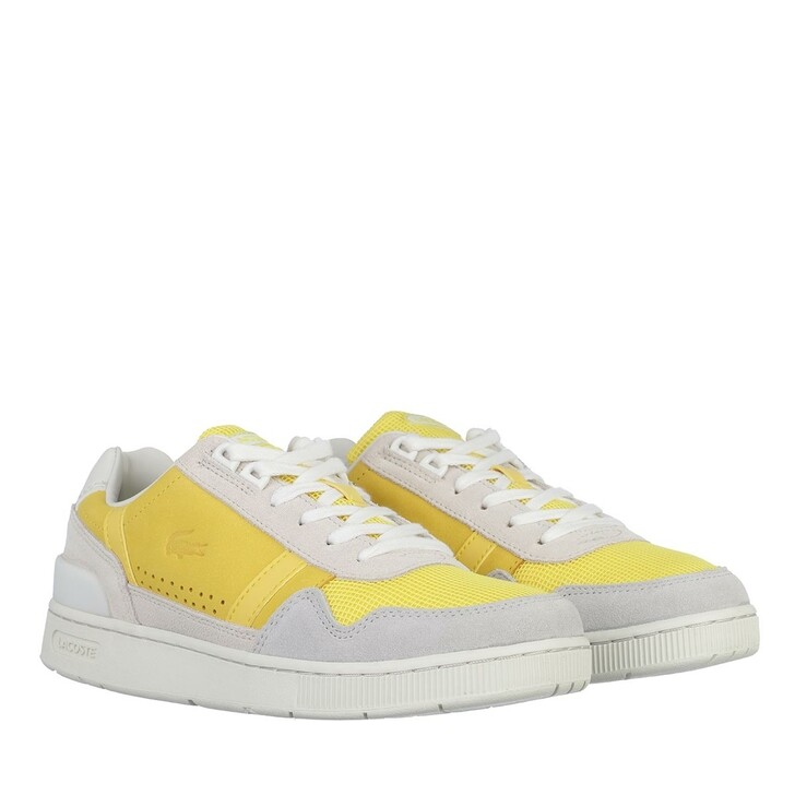 Schuh, Lacoste, T Clip Sneakers Off White Yellow